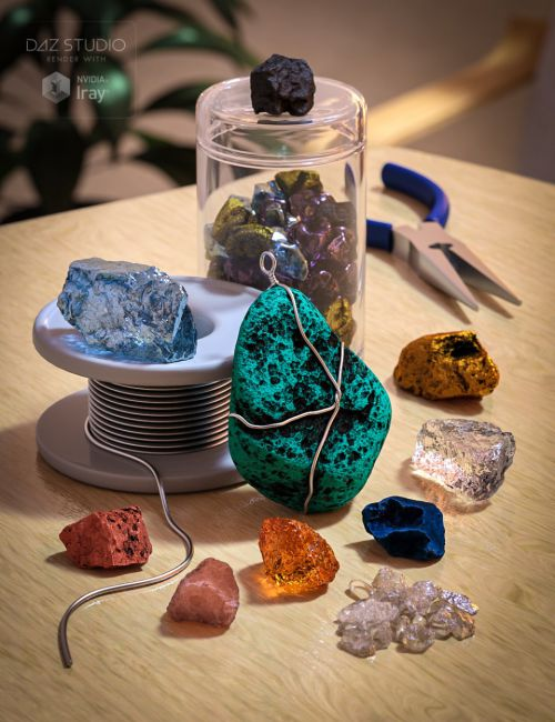 Gems and Minerals for Rock Collection