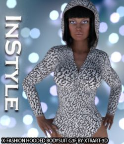 InStyle- X-Fashion Hooded Bodysuit for Genesis 3 Female(s)
