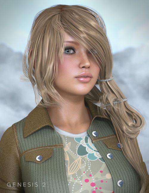Envy Hair for Genesis and Genesis 2 Female(s)
