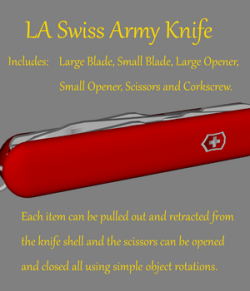 Swiss Army Knife prop  - Extended License