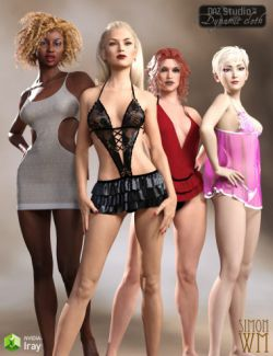 Dynamic Lingerie Collection for Genesis 3 Female & Victoria 7