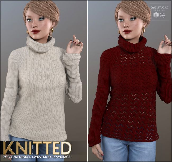 Knitted for Turtleneck Sweater