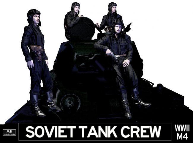 Soviet Tank Crew WWII