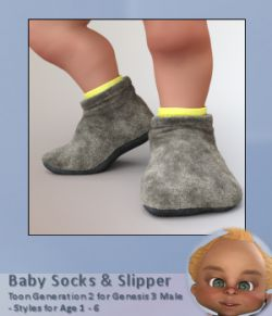 Baby Socks for Toon Generation 2 for Genesis 3 Male