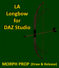 LA Longbow with Arrow for DAZ Studio