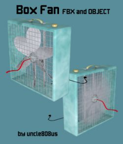 Box Fan FBX OBJ