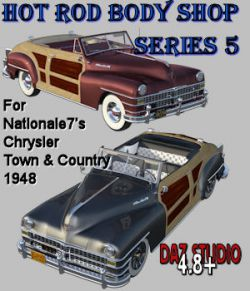 Hot Rod Body Shop Series 5 for Nationale7 Chrysler Town and Country 1948
