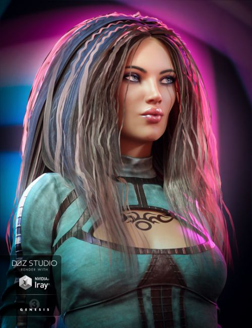 Cloey Hair for Genesis 3 Female(s)