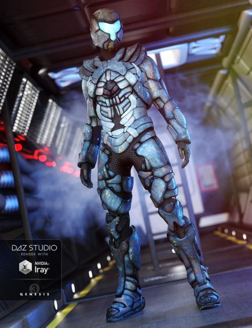 Space Merc Outfit for Genesis 3 Male(s)