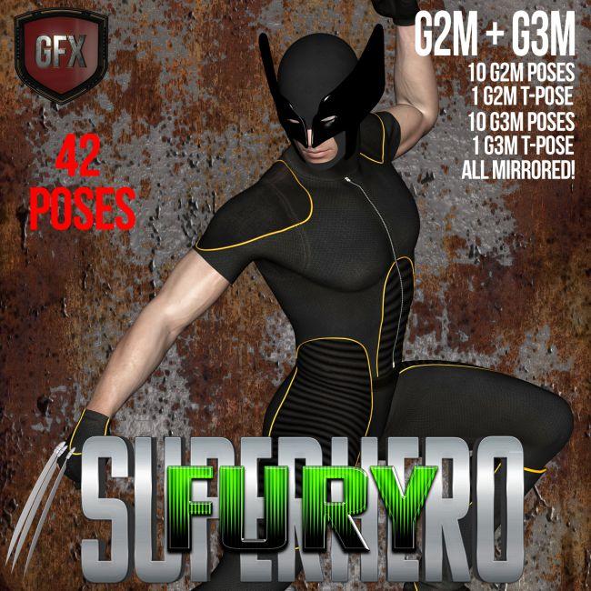 SuperHero Fury for G2M & G3M Volume 1