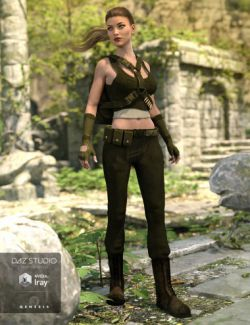 Rogue Commando Outfit for Genesis 3 Female(s)