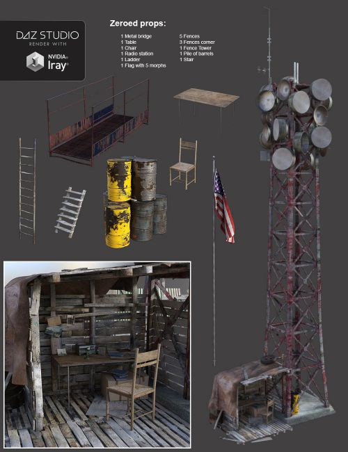 Post Apocalyptic World The Outpost 3d Models For Poser