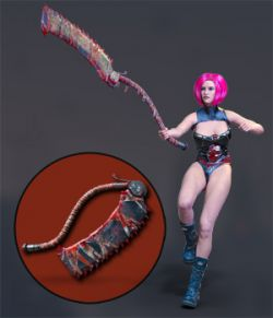 Slide3D Sinister Huntress Poses with Axe for Genesis 3 Females