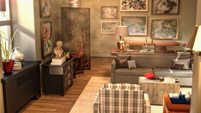 i13 Stylish Apartment   3D Models for Poser and Daz Studio