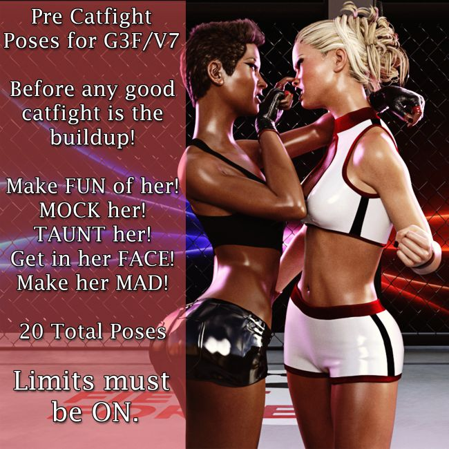 Pre Catfight Poses for G3F/V7