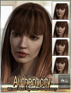 Authenticity Mix and Match Expressions for Genevieve 7 and Genesis 3 Female(s)