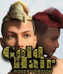 Gold Hair Poser 10