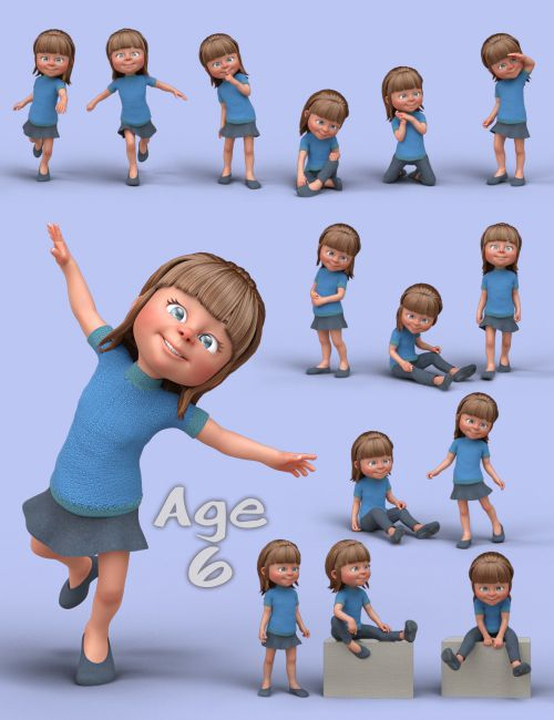Generational Poses For Toon Generations 2 3d Models For Poser And Daz Studio