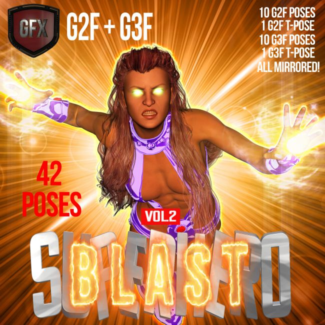 SuperHero Blast for G2F & G3F Volume 2