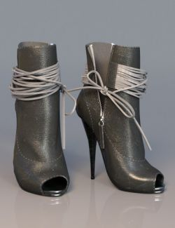 Open Toe High Heel Boots for Genesis 3 Female(s)