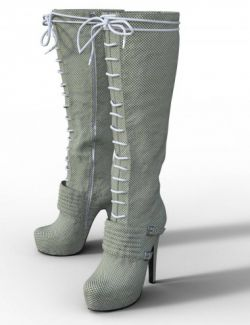 Platform Knee High Boot for Genesis 3 Female(s)