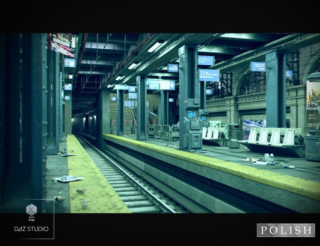 Cyberpunk Subway Station 3d Models For Poser And Daz Studio