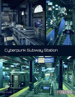 Cyberpunk Subway Station