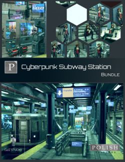 Cyberpunk Subway Station Bundle