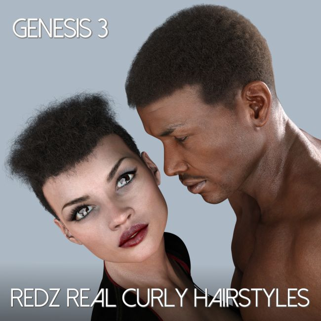 Redz Real Curly for Genesis 3 Male and Female
