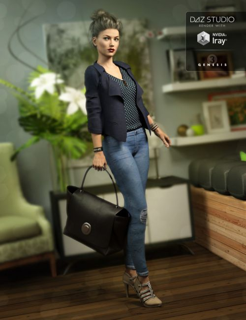 Upscale Shopper Outfit for Genesis 3 Female(s)