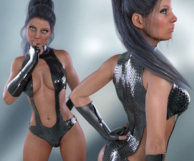 InStyle - X-Fashion Combat Bodysuit for Genesis 3 Females