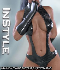 InStyle- X-Fashion Combat Bodysuit for Genesis 3 Females