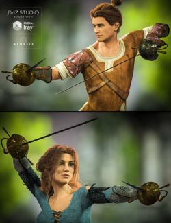 Cazoleta Swords and Poses for Genesis 3 Male(s) and Female(s)