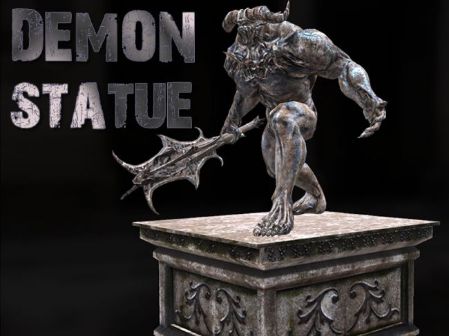 Demon Statue - Extended License