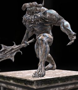 Demon Statue- Extended License