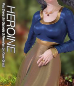 HEROINE- Pan Dress for Genesis 3 Female