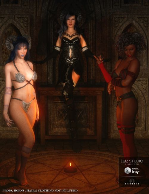 The Devil's Regent: Poses & Expressions for Genevieve 7 & Genesis 3 Female