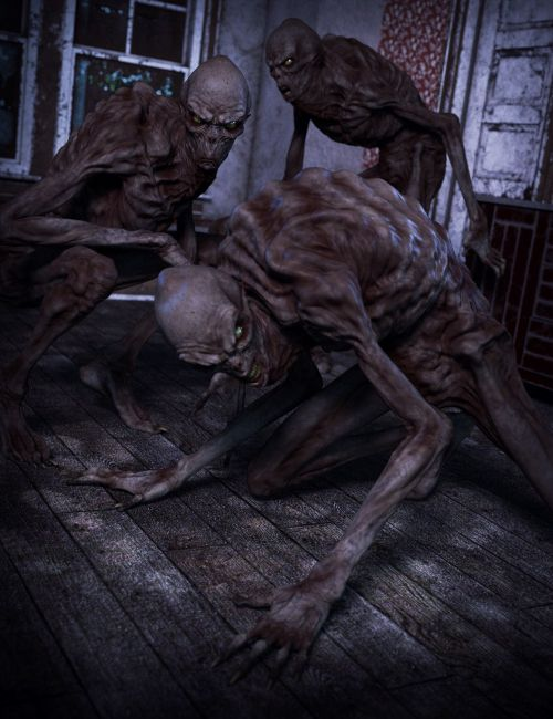Creepy Poses For Boogeyman 3d Models For Poser And Daz