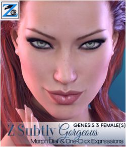 Z Subtly Gorgeous - Morph Dial and One-Click Expressions for G3F-V7