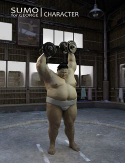 Sumo Character, Hair and Outfit for George and Genesis 3 Male