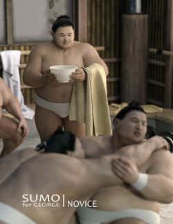 Sumo Novice for Sumo Character, Hair and Outfit for George and Genesis 3 Male