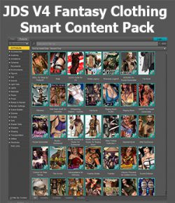 JDS V4 Fantasy Clothing Smart Content Pack