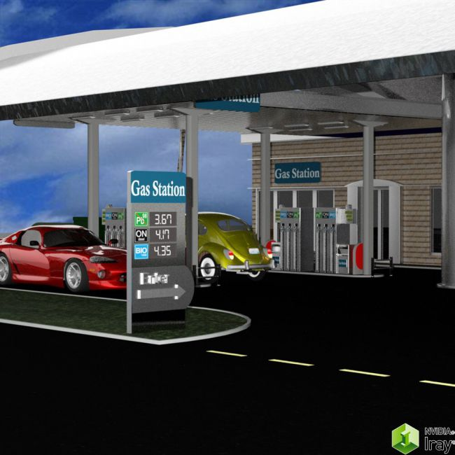 VP Gas Station for DAZ Studio