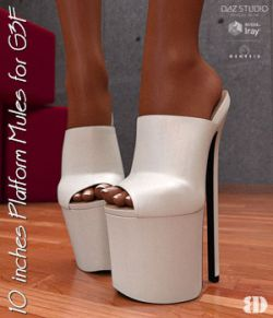 10 inches Platform Mules for G3F