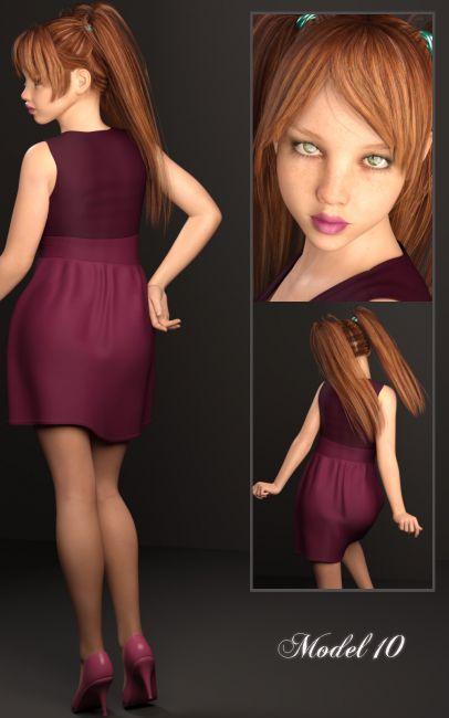 Alt Tween Julie   3D Models for Poser and Daz Studio