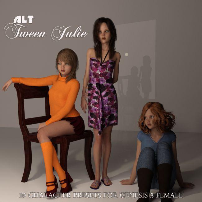 Alt Tween Julie/Teen Josie 2 3D Figure Assets AliveSheCried