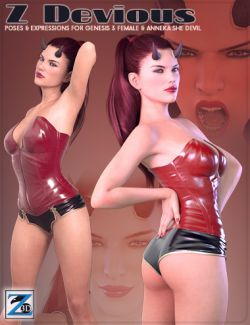 Z Devious- Poses and Expressions for Anneka She Devil & Genesis 3 Female