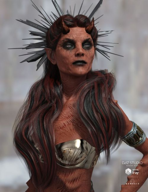Reyna Hair for Genesis 3 Female(s)