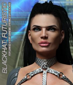 BLACKHAT:FUTURISTIC- Linked II for Genesis 3 Females