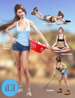 i13 75 Pose Variety Pack 2 for the Genesis 3 Female(s)